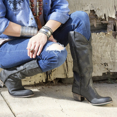 Plain Jane Boot Ladies Boot | Size Charcoal Black 5 Lane | Lane Boots
