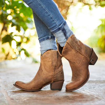 Plain Jane Shortie Ladies Bootie | Size Brown 5 Lane | Lane Boots