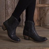 Plain Jane Shortie Ladies Bootie | Size Charcoal Black 5 Lane | Lane Boots