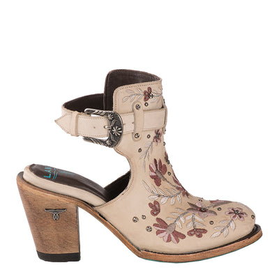 Lane Floral Halfsie Bootie Ladies Bootie Western Contemporary Boots Handmade by Lane
