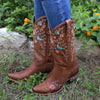 Wild Vines Ladies Boot | Size Almond Colorful 5 Lane | Lane Boots