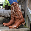 Wild Vines Ladies Boot | Size Almond Tonal 5 Lane | Lane Boots