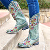 Chloe Square Ladies Boot | Size Dusty Turquoise 5 Lane | Lane Boots