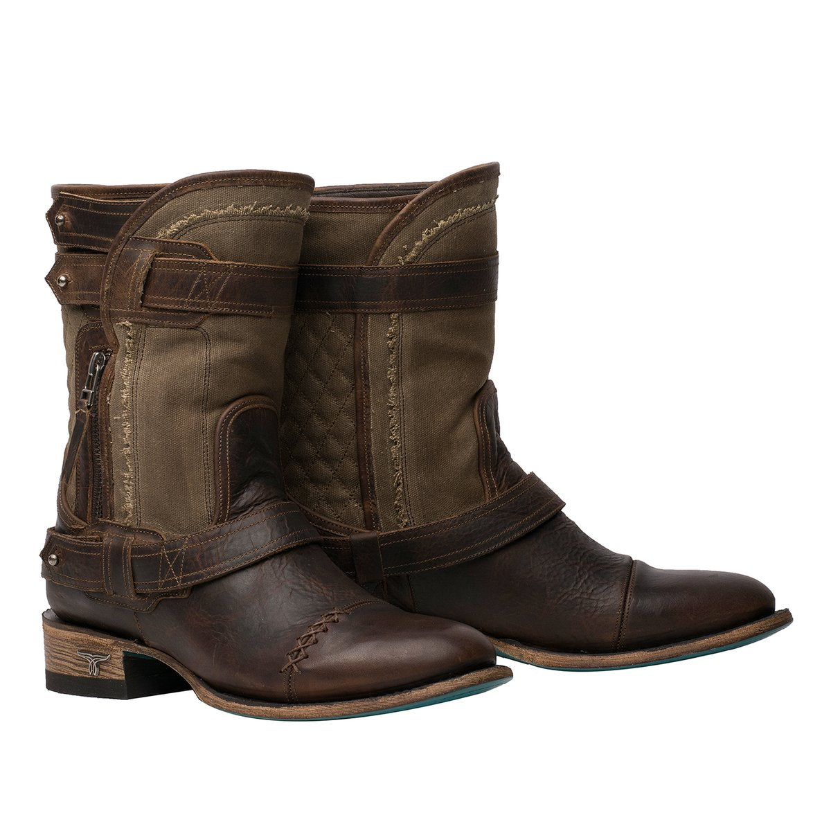 Dustoff Ladies Bootie | Size Worn Sage/Cognac 5 Lane | Lane Boots