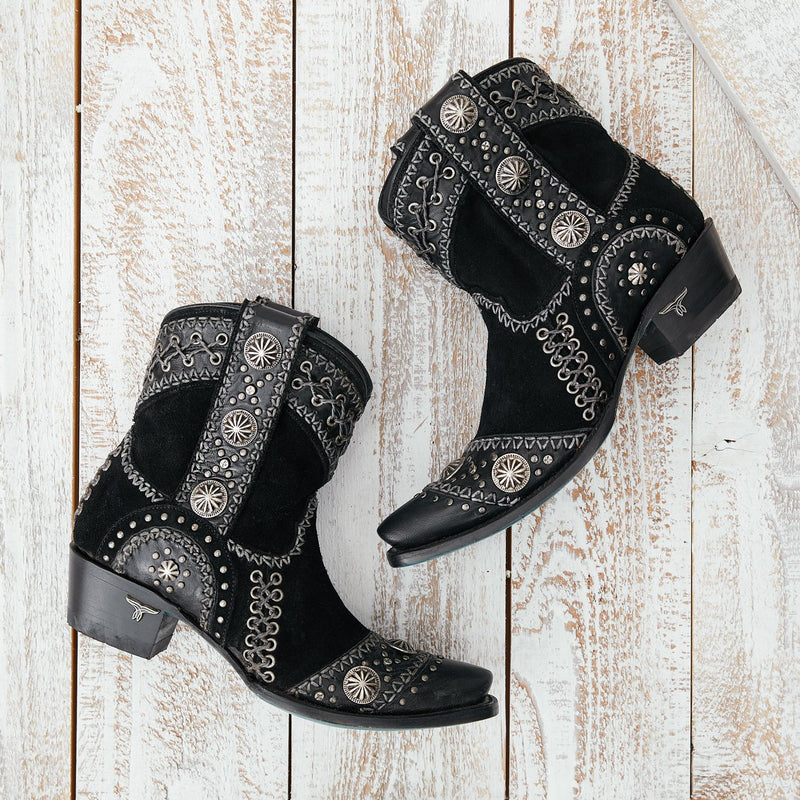 Lane Wind Walker Bootie Black  Women's Western Ankle Boot