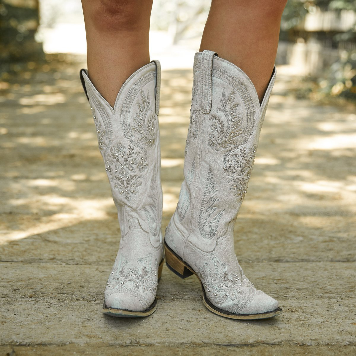 Lane Santorini Ceramic Crackle Western Wedding Boot