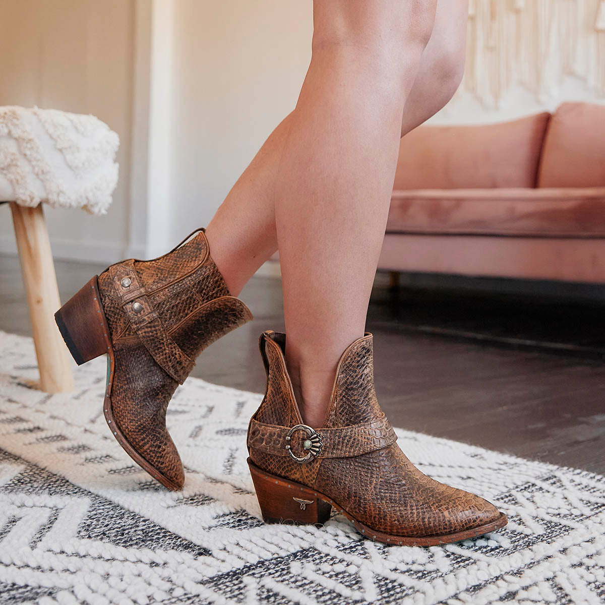 Mattie Ladies Bootie Brownbelly by Lane Boots