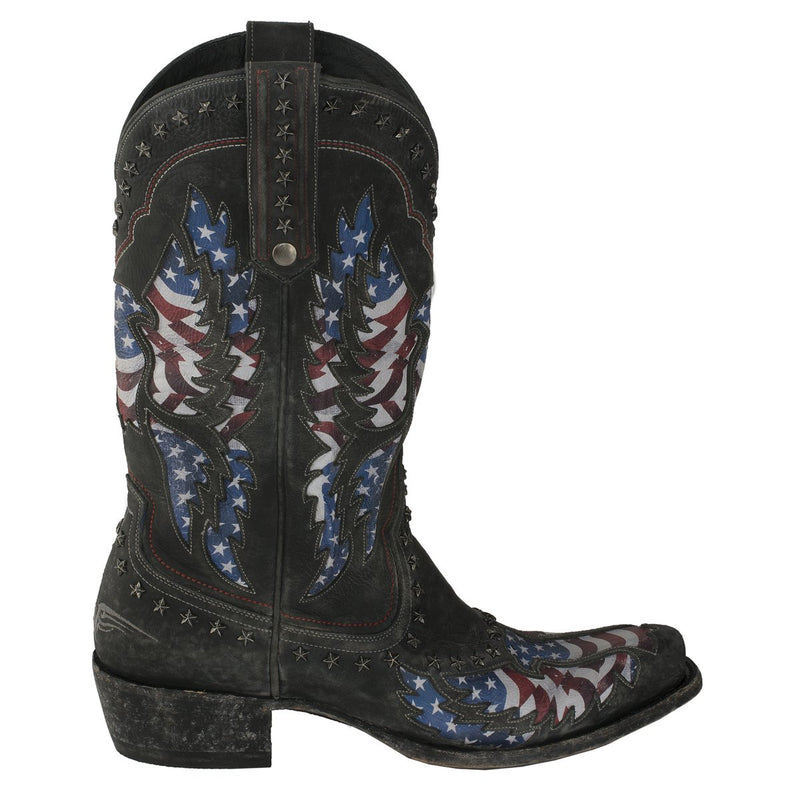 Lane Old Glory Mens Stone Washed Patriotic Boots  American Flag