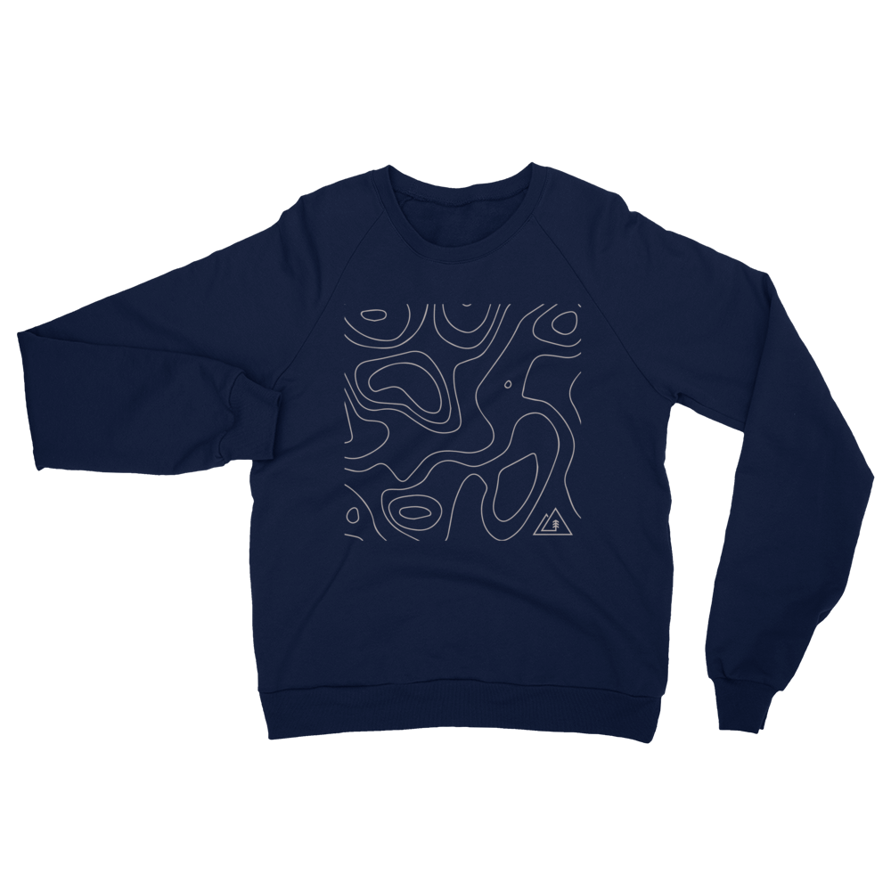 Lake Map Unisex Raglan Sweater
