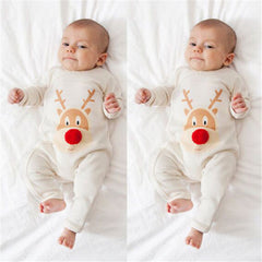 Family Matching Pajamas Set Mom And Baby Christmas Deer Outfits