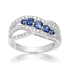 Sterling Silver Tanzanite Engagement Rings for Women