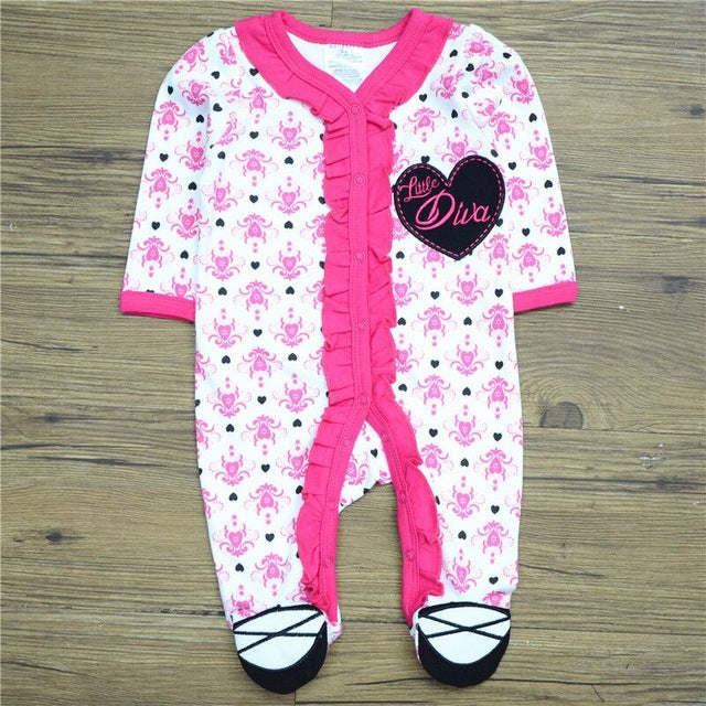 Baby Girls Cotton long-sleeve Romper