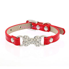 Candy Color Pet Cat Collar Luxury Diamante for Cat