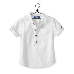 Casual Baby Children Boy Cotton Short Sleeve Shirts