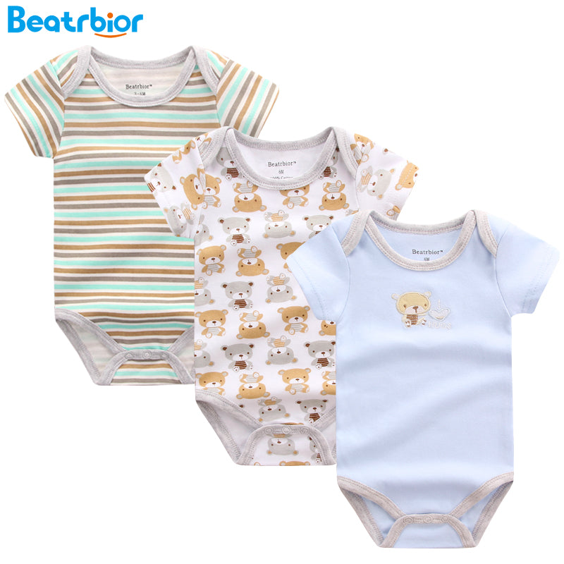 Baby Clothing 100% Cotton Short Sleeve Romper