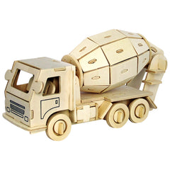 3D Wooden Puzzle Engineering Truck