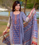 BIN SAAED EMBROIDERED LAWN D.No 01B