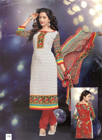 Printed Suit D.No 118