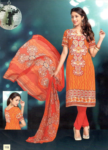 Printed Suit D.No 119