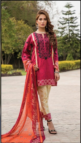 AYESHA HIBA EMBROIDERED LAWN D.No 1903-B