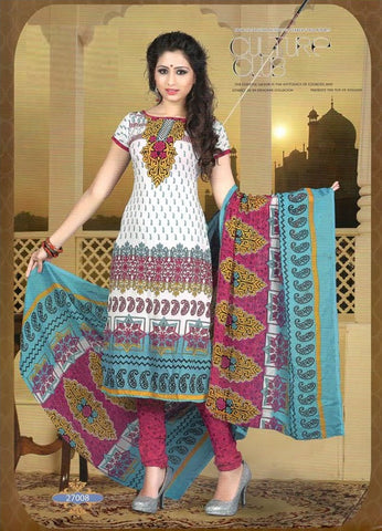 Printed Suit D.No 27008