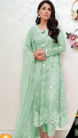 ANSAB JAHANGIR DRESS LIGHT GREEN