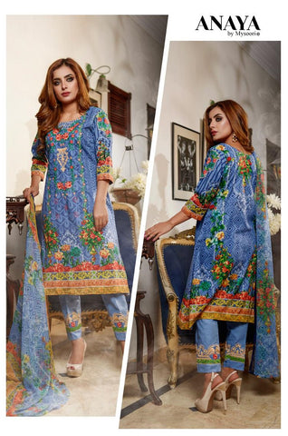 Anaya Embroidered Lawn D.No 6-A