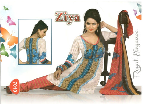 Printed Suit D.No 7010