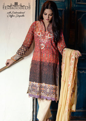 Mahira Khan Embroidered Lawn D-1
