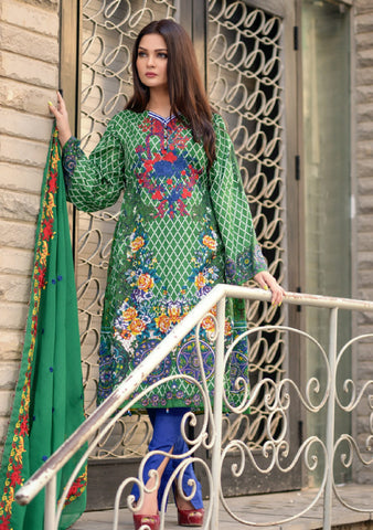 Mahira Khan Embroidered Lawn D-3/A
