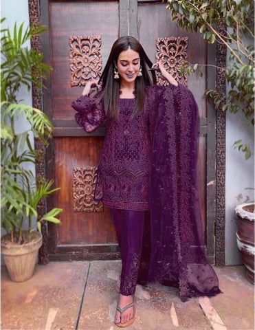 ZAINAB CHOTTANI PURPLE D NO. ZC-3008