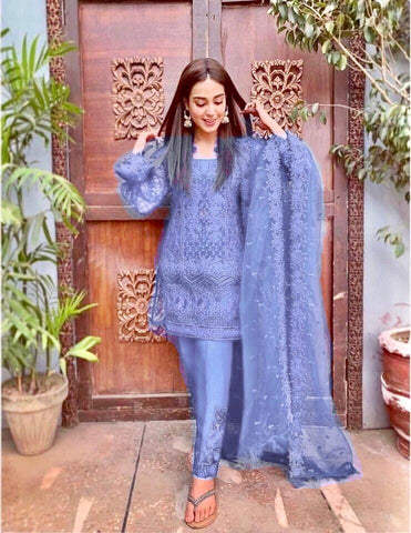ZAINAB CHOTTANI LIGHT BLUE D NO. ZC-3005