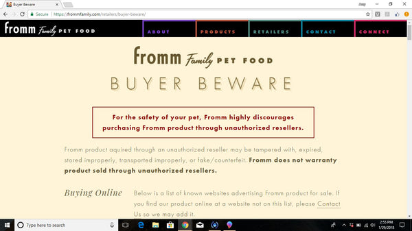 Fromm's website