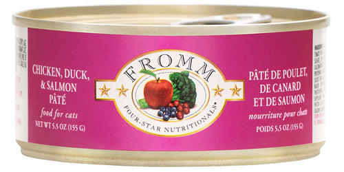 Fromm Four-Star Cat Can Chicken, Duck & Salmon Pate