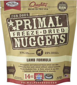 Primal Dog Raw Freeze Dried Lamb Formula