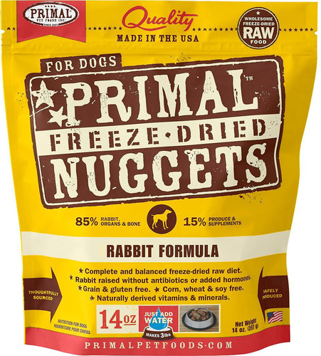 Primal Dog Raw Freeze Dried Rabbit Formula