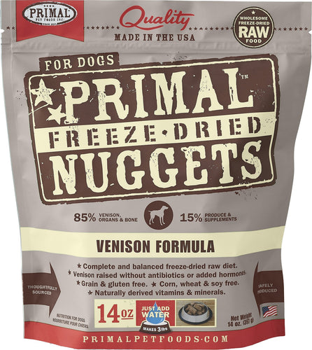 Primal Dog Raw Freeze Dried Venison