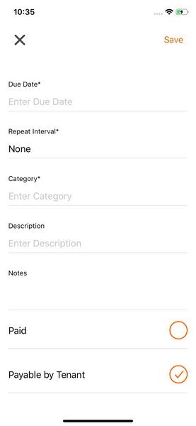 Email expense receipt Landlord Studio App 2