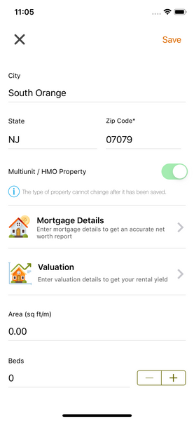 Mortgage Details on Landlord App