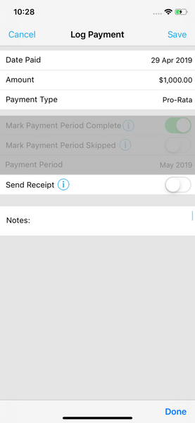 Send Payment Receipts Landlord Studio App 2