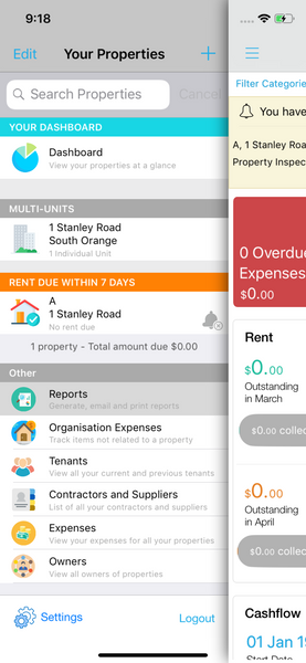 Run reports on Landlord Studio App