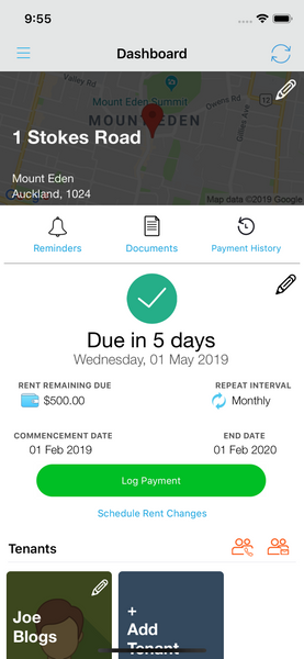 Schedule Rent Change in Landlord Studio App 1