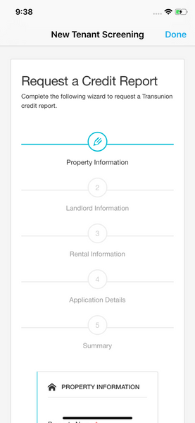 Tenant Screening Landlord Studio App