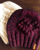 The Heart Ewe Bobble Beanie Knitting Pattern