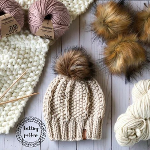 The Adaline Beanie Knitting Pattern