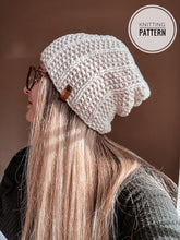 Load image into Gallery viewer, The Staple Slouch Beanie Knitting Pattern