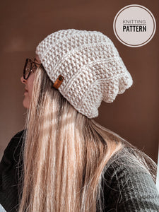 The Staple Slouch Beanie Knitting Pattern