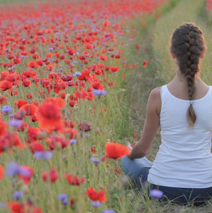Yoga In The Flower Field