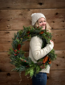 Foraged Evergreen Wreath Workshop - Sat, Dec 5th 1-3PM