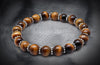 Essential Tiger Eye With Silver Spacers